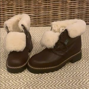 Orvis Brown 100% Shearling Winter Boot